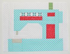 snapshots february block - sewing machine! — love this free quilt block pattern