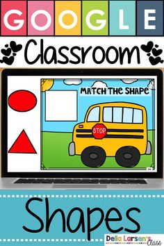Learn shapes with Google Classroom! Use technology in your kindergarten class to help you assess geometry skills. This resource has 15 slides. Google Classroom is a fun way to help your kindergarten students learn and match shapes. This resource is perfect for small groups intervention, math centers, independent practice or even for homework. This resource is great for back to school. #googleclassroom #kindergarten #mathcenters Kindergarten Classroom, Kindergarten Activities, Classroom Activities, Preschool Activities, Classroom Ideas, Student Learning, Learning Resources, Online Classroom, Google Classroom