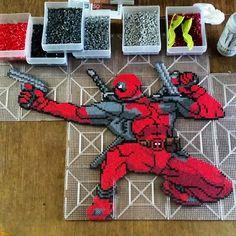Deadpool perler bead sprite by klep2024
