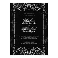 Discount DealsGothic Victorian Spooky Black & White Wedding Personalized Announcementswe are given they also recommend where is the best to buy