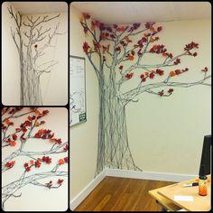 String Yarn Tree Art 1