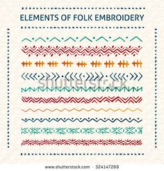 simple embroidery borders - Google Search