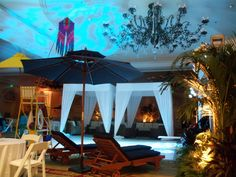 Great indoor pool party ideas.