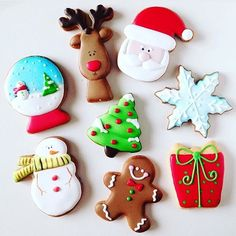 Cute and Easy Christmas Cookies Ideas You'll Love This Holiday Season - Page 64 of 75 - Kornelia Beauty Cute Christmas Cookies, Christmas Cupcakes, Cute Cookies, Christmas Sweets, Christmas Cooking, Noel Christmas, Holiday Cookies, Cupcake Cookies, Snowflake Cookies