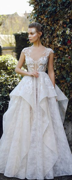 Wedding dress JANEL, A-line wedding dress, lace wedding dress