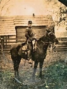 Confederate soldier, Bluford McDaniel from what is now Lamar County, Alabama. He was captured at Gettysburg in July 1863 and sent to Fort Delaware. When the war ended and he was paroled in June, 1865, he walked home to Alabama barefoot.