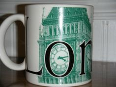 Coffee Mug - Starbucks 2002 City Collector Series London Big Ben. Made in England