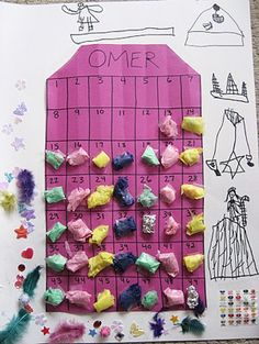 Counting the Omer with Children-have to do this! I just now thought another way might be to drop stones in a jar.