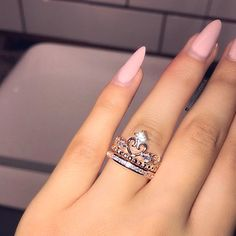 Morganite engagement ring rose gold Unique diamond Cluster ring Vintage wedding Mini stone Bridal set Jewelry Anniversary Gift for women - Fine Jewelry Ideas Cute Rings, Unique Rings, Beautiful Rings, 15 Rings, Cute Jewelry, Jewelry Accessories, Women Jewelry, Jewelry Ideas, Vintage Engagement Rings