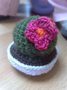 Op zondag geen verse bloemen te koop, dus in plaat van een vers boeketje, een gehaakte mini cactus! In een uurtje gehaakt en niets te ...