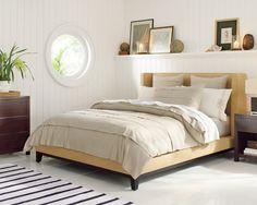 Presidio Bed    Dreamy late summer bedroom design...  Williams Sonoma