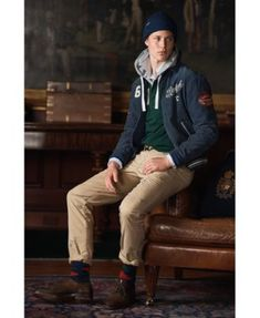 Polo Ralph Lauren Men s Classic Fit Cotton Rugby Hoodie - Cruise Navy Multi  L 142ddfac61a9