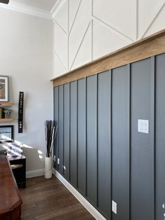 Modern wall accent Wood Accent wall Modern Transitional herringbone Board and Batten bedroom interior design House Design, New Homes, House Interior, House, Home, Interior, Home Diy, Accent Wall Bedroom, Home Decor