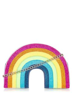 Discover the range of bags, backpacks & more, including the Glitter Rainbow Cross Body Bag from Skinnydip London. Skinnydip London, Rainbow Bag, London Bags, All Gifts, Disney Style, Chicago Cubs Logo, Guys And Girls, Colorful Fashion, Fashion Bags