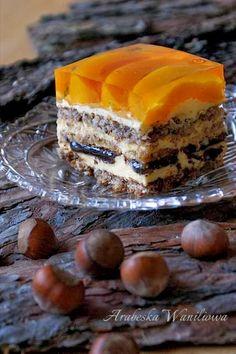 Arabeska : Kora orzechowa Polish Desserts, Polish Recipes, Polish Food, Hungarian Cake, European Dishes, Vegan Junk Food, Vegan Sushi, Vegan Smoothies, Vegan Kitchen