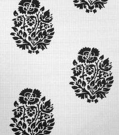 Outdoor Fabric-Weeds Black