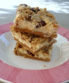 Cookie Dough Cheesecake Bars... So awesome! Just made these today!