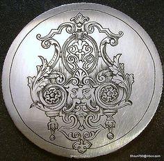 Engraved 1945 Walking Liberty Love Token Ornate Victorian Design, modern made.