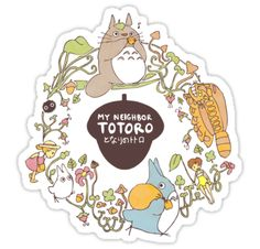 """My Neighbor Totoro "" Stickers by Stephanie Hodges 