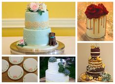Cherry Tree Cakerie - Beautiful & Delicious Wedding Cakes - Girl Gets Wed Fruit Flowers, Beautiful Wedding Cakes, Drip Cakes, Cherry Tree, Fondant Cakes, Amazing, Desserts, Image, Food