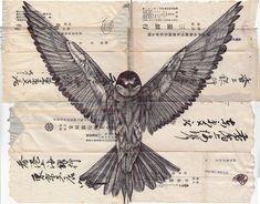 My Paisley World: Mark Powell's Bird Drawings