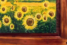 Sunflowers field of sunflower landcape by JudopiaBeachDecor