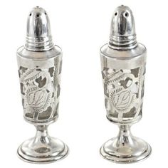 Check out this item at One Kings Lane! 1950s Sterling Silver Salt & Pepper Set