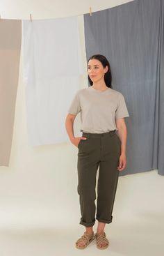 Rahkasammal Soft Grey Short Sleeve T-Shirt Stand Collar Shirt, Collar Shirts, Sustainable Clothing, Sustainable Fashion, Light Blue Color, Colorblock Dress, Grey Shorts, Fashion Labels, Fast Fashion