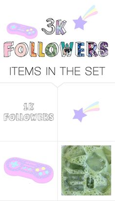 """""""3k followers! THANKS!"""" by lolalevjesrcna ❤ liked on Polyvore featuring art"""