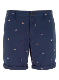 Navy Chino Anchor Shorts ~Anchooors ♡_♡