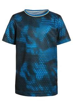 adidas Performance - T-shirts print - shock blue/dark grey