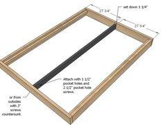 Full size platform bed plans 01 25 Storage Bed Build a queen size platform bed on the cheap Flat Out Easy Platform Bed From Design On A Dime Platform Bed Plans, Full Size Platform Bed, Wood Platform Bed, Bed Frame Plans, Full Bed Frame, Diy Bed Frame, Bed Frames, Home Design, Bookshelf Plans