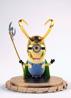 Minion Loki = want Amor Minions, Minions Love, Minions Despicable Me, Minions Quotes, Loki, Tom Hiddleston, Minions Images, Evil Minions, Cool Monsters