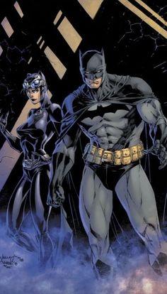 Batman And Catwoman, Batman Art, Joker, Dc Comics Art, Batman Comics, Comic Books Art, Comic Art, Book Art, Jim Lee Batman