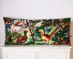 Vintage Silks Needlepoint Tapestry Exotic Birds by Retrocollects £85 https://www.etsy.com/shop/Retrocollects