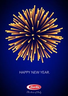 Happy New Year - Barilla Packaging  A little early but still great IMPDO.