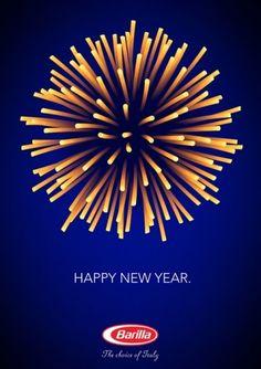 Campagne qui aurait du s'appeler Happy Nouilles year - Barilla Packaging.