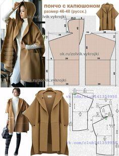 El patrón del abrigo veraniego con la capucha (2 sht) \/ los patrones Simples \/ la SEGUNDA CALLE