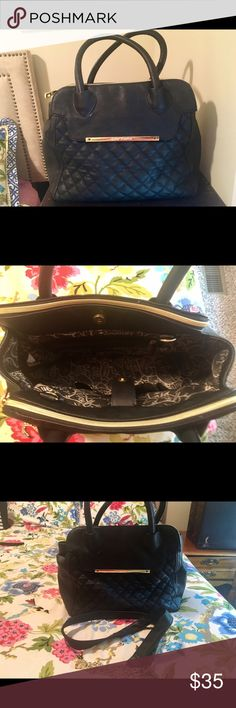 Betsey Johnson Black Quilted Tote Black quilted leather tote, interior is clean and in perfect condition, comes with black and gold removable shoulder strap. Betsey Johnson Bags Totes