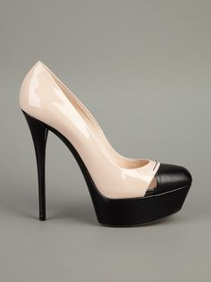 Casadei Two Tone Pump-great work shoe