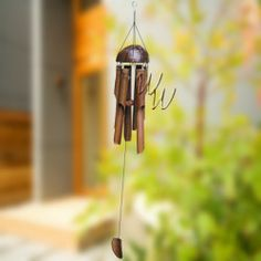 This adorable handcrafted Bamboo Wind Chime is on sale and on clearance at Whimsical Winds. Get yours before it's gone! || whimsicalwinds.com || #windchime #homedecor Bamboo Wind Chimes, Whimsical, It Is Finished, Antiques, Outdoor Decor, Home Decor, Wind Chimes, Bamboo, Antiquities