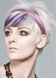 I'm in love with this Short Haircut and funky color panels!
