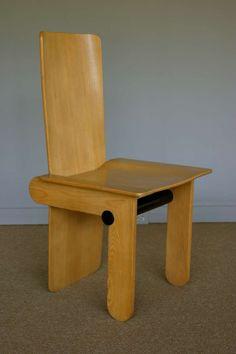 Carlo Scarpa; Side Chair for Gavina, 1974.