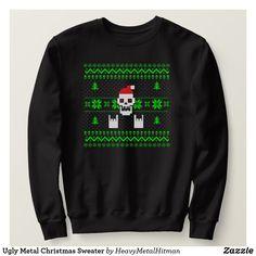 Ugly Metal Christmas Sweater Suéteres De Navidad 9c5866678fcd
