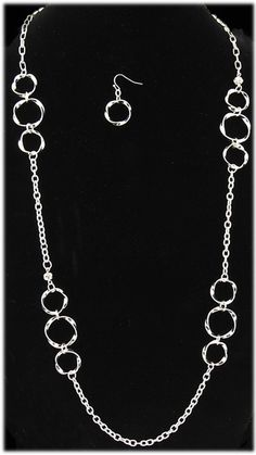Simply Whispers Jewelry Necklace Earring Set silver twisted ring French hook earring and necklace