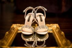 Sparkly wedding shoes | SouthBound Bride | http://www.southboundbride.com/glamorous-gold-wedding-at-jc-le-roux-by-jana-marnewick-shannon-justin | Credit: Jana Marnewick