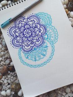 Beautiful mandala-inspired colored line art