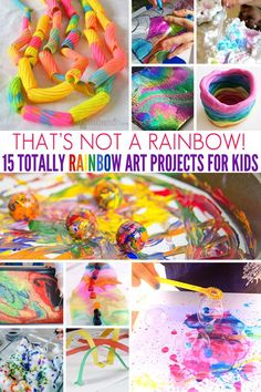 15 art projects for kids that celebrate all of the magic of the colours of the rainbow.