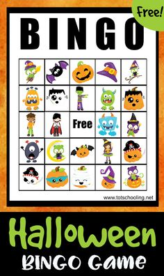 FREE printable Halloween BINGO Game for kids of all ages to play the classic game in celebration of Halloween. Kids will love the cute, non-scary creatures and characters. Great game to play in school or at home.