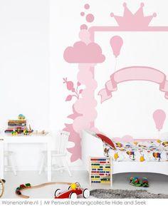 Behangcollectie Hide and Seek van Mr Perswall. Deze collectie van MR. Perswall is speciaal ontwikkeld voor kinderen en hun eigen kamers.